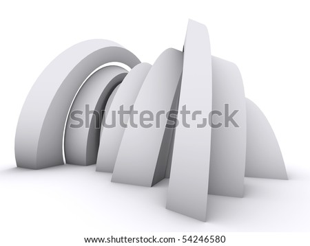 Arch composition on white - stock photo