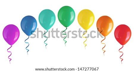 Arch of balloon. Isolated on white - stock photo