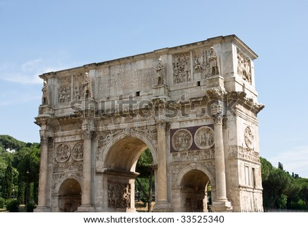 Arch of Costantine, Rome - stock photo