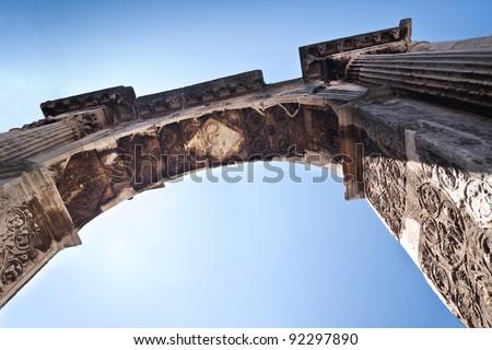 Arch of the Sergeii on Portarata - stock photo