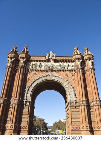 Arch of Triumph, Barcelona Spain - stock photo