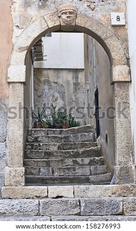 Arch on the street in Sicily. The Views of  Sicily, Italy - stock photo