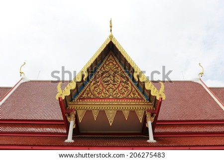 archaeological site of thailand - stock photo