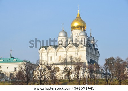 Archangel Cathedral in the Moscow Kremlin. Russia - stock photo