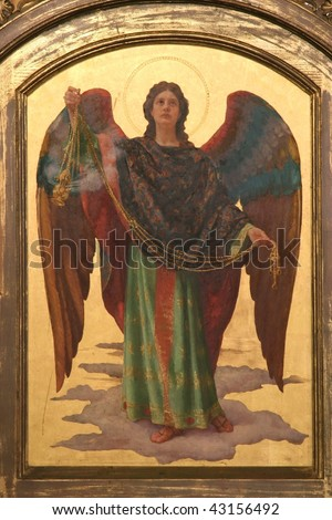 Archangel Gabriel - stock photo