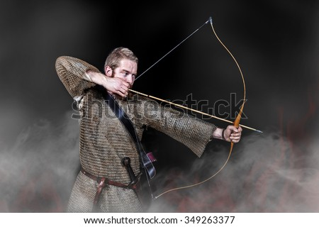 archers knights - stock photo