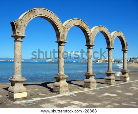 Arches in Puerto Vallarta, Mexico - stock photo