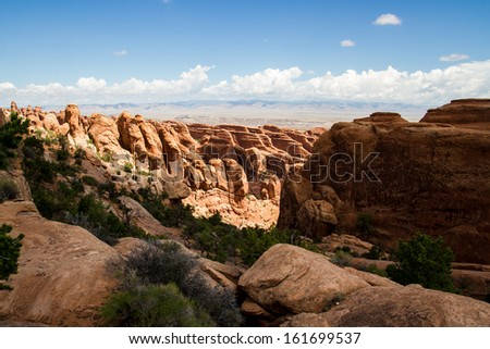 Arches National Park in the desert of Utah - stock photo