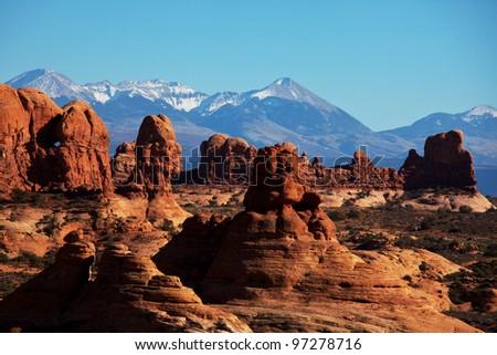 Arches National Park landscapes, Utah. - stock photo