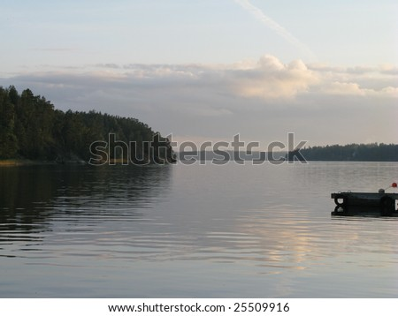 Archipelago view - stock photo