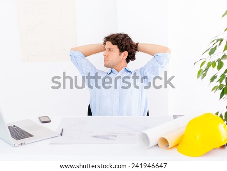 Architect at office - stock photo