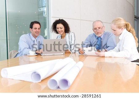 architect business group meeting - stock photo