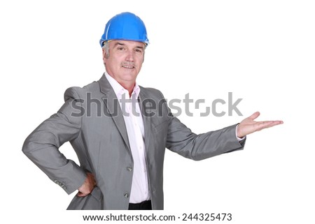 Architect gesturing - stock photo