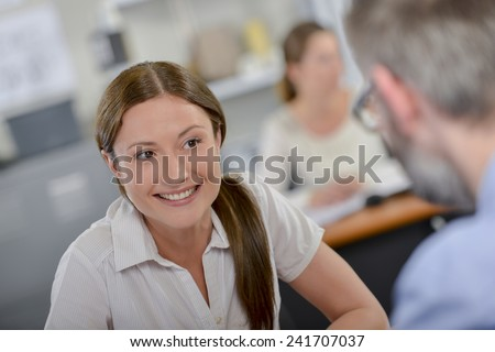 Architect with a client - stock photo