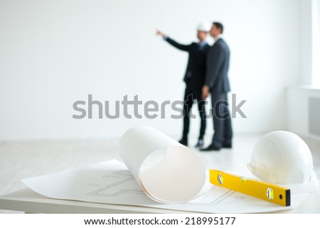 Architects planning indoor - stock photo