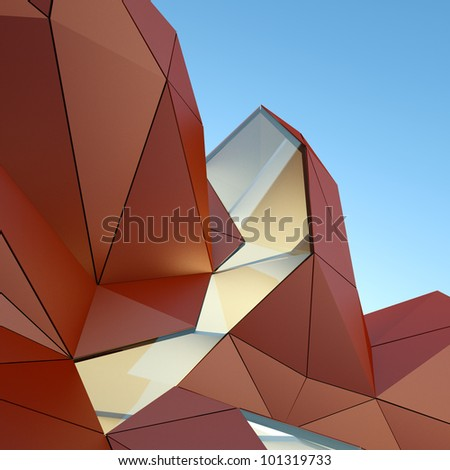 architectural background, 3d rendering image - stock photo