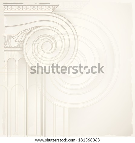 architectural background , ionic column - stock photo