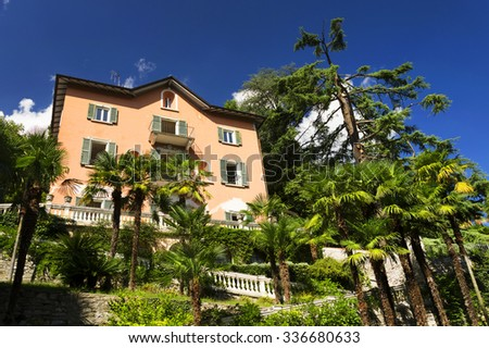 Architectural detail at Lake Como in Italy, Europe - stock photo