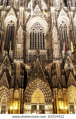 Architectural detail, Dom of Cologne, Germany - stock photo