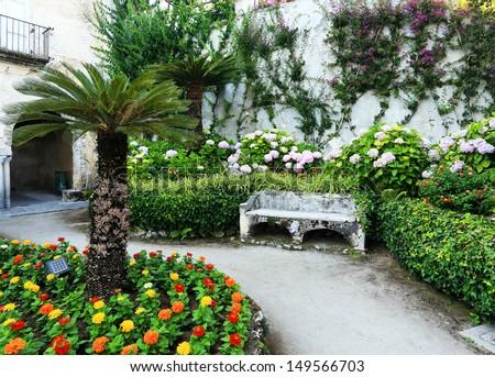 Architectural detail in Ravello, Amalfi Coast, Italy, Europe - stock photo