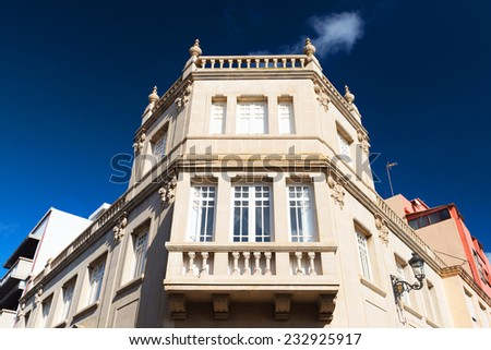 Architectural detail in San Cristobal de La Laguna,Tenerife, Canary Islands - stock photo