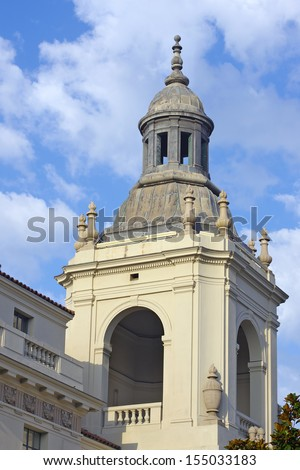 Architectural Detail of the Pasadena City Hall. Pasadena, California, USA. - stock photo