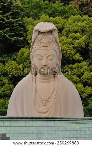 Architectural Detail of Traditional Buddist Japanese Temple in north Japan - stock photo