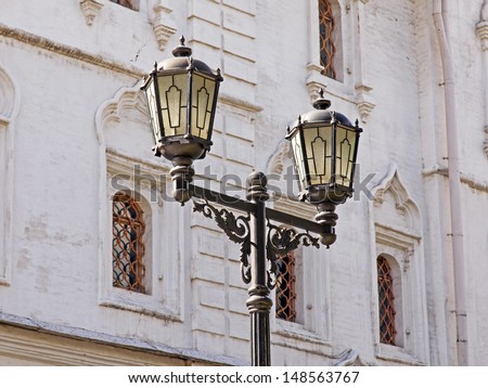 Architectural details of the Moscow Kremlin - stock photo