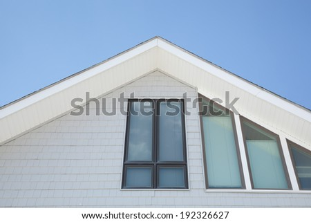 Architectural details on a beachfront property. - stock photo