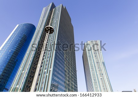 Architectural elements and abstract parts of buildings and structures in Astana Kazakhstan - stock photo