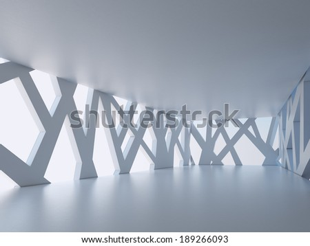 Architectural interior space - stock photo
