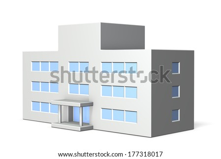 Architectural models of school  - stock photo
