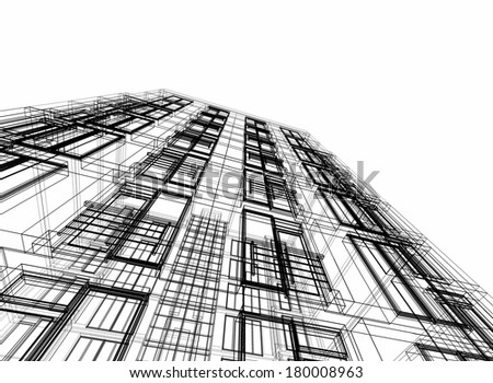 architecture building background - stock photo