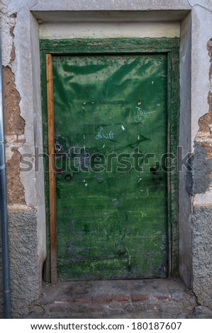 architecture details from spain. aged materials and texture - stock photo