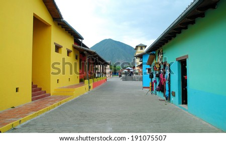 Architecture in Ecuador / Changing Colors - stock photo