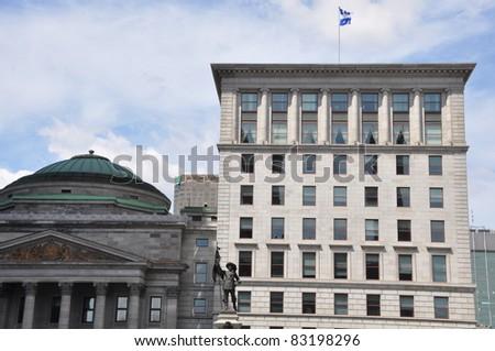 Architecture in Montreal, Canada - stock photo