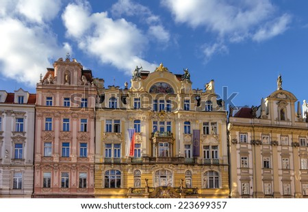 Architecture in Prague - stock photo