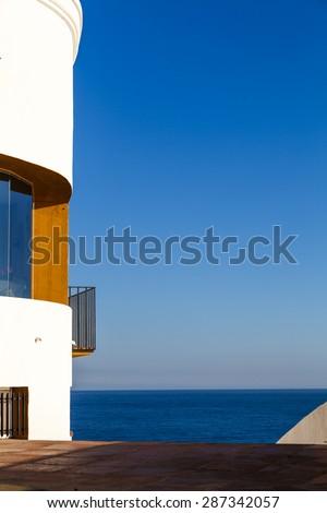 Architecture in San Pol de Mar in Catalonia, Spain - stock photo