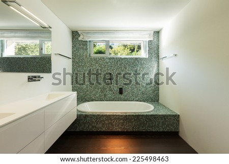 Architecture modern design, indoor of a bathroom - stock photo