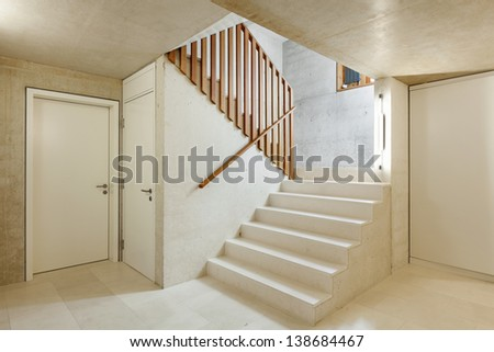 architecture modern design, interior home, staircase - stock photo
