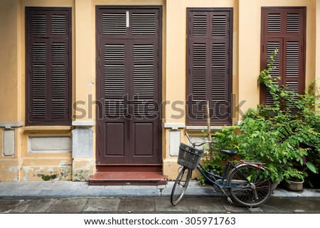 Architecture of a Home in Hanoi, Vietnam. - stock photo