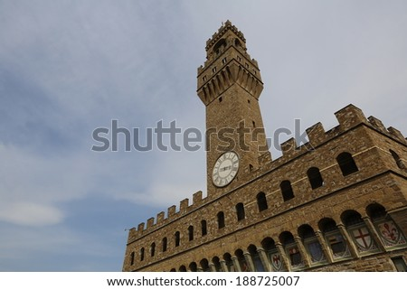 Architecture of Italy. Florence - center of the region Tuscany - stock photo