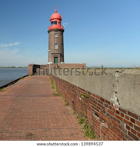 architecture of lighthouses - stock photo
