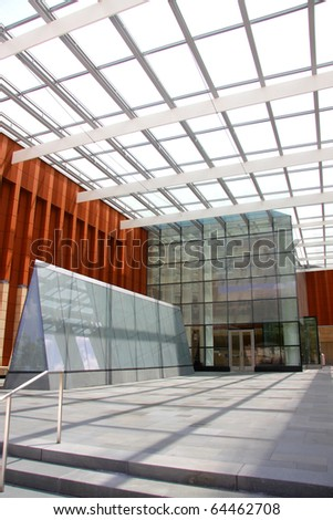 Architecture of modern new glass building exteriors - stock photo