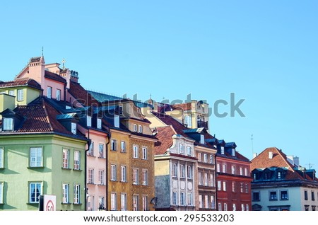 Architecture of Old Town in Warsaw, Poland  - stock photo