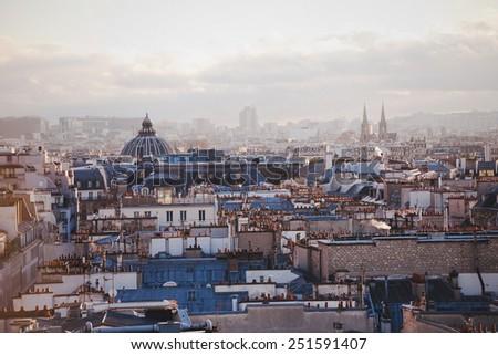 architecture of Paris, France - stock photo