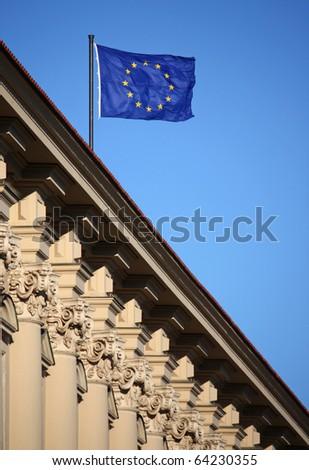Architecture of Prague - stock photo