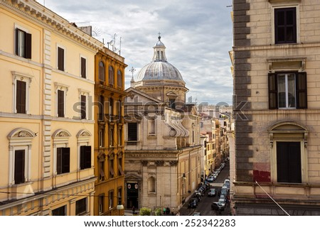 architecture of Rome. Italy  - stock photo