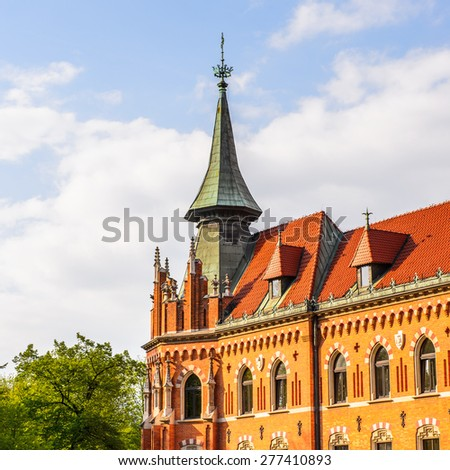 Architecture of the Old town of Krakow, Poland - stock photo