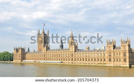 Architecturel of the Westminster in London, UK - stock photo